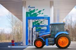 АГРОМАШ 85ТК МЕТАН на заправке «Газпром газомоторное топливо»